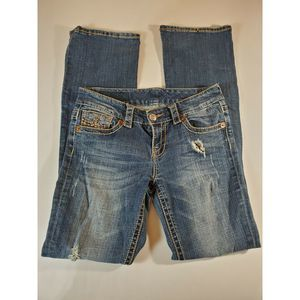 Seven For All Mankind Distressed Bootcut Jeans 28